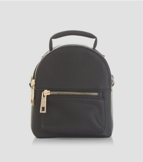 Black Mini Backpack | New Look