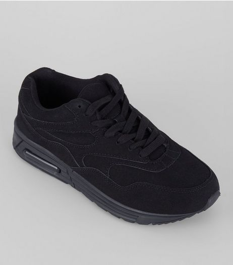 Black Textured Sole Trainers | New Look