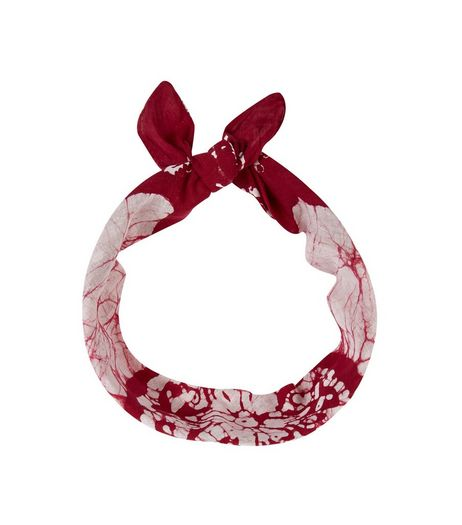 Burgundy Dip Dye Bandana | New Look