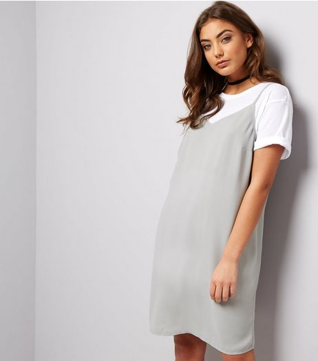 Grey Slip Dress | New Look