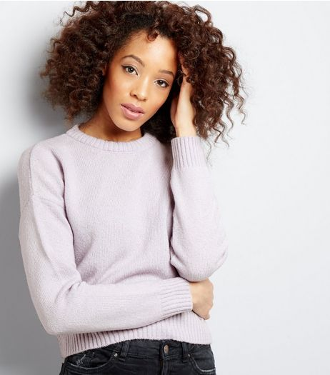 Lilac Cropped Jumper | New Look