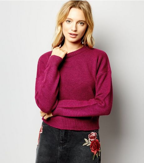 Purple Crew Neck Jumper | New Look