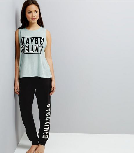 Teens Mint Green Maybe Later Pyjama Set | New Look