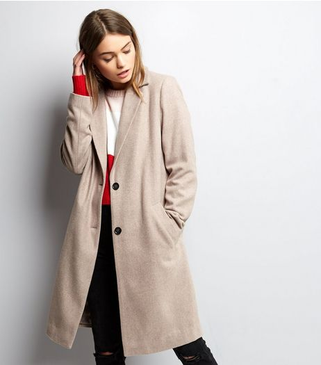 Mink Button Front Coat | New Look