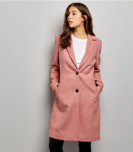 Pink Button Front Coat | New Look