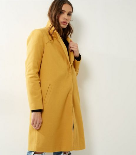 Yellow Longline Coat  | New Look