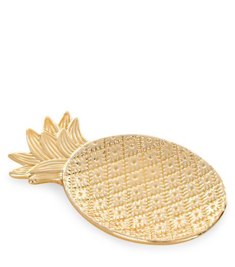 Gold Pineapple Jewellery Tray | New Look