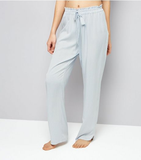 Blue Tie Waist Pyjama Bottoms  | New Look