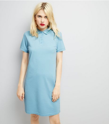JDY Pale Blue Short Sleeve Tennis Dress | New Look