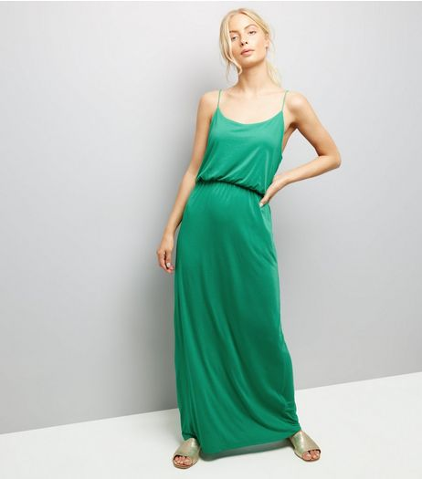 JDY Mint Green Strappy Maxi Dress  | New Look
