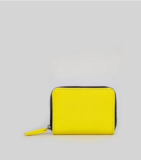 Neon Yellow Cardholder | New Look
