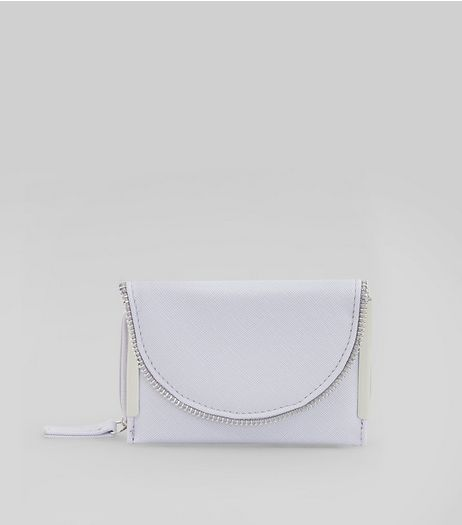 Lilac Zip Edge Fold Over Purse | New Look