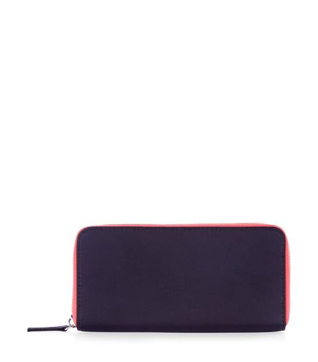 Black Neon Trim Purse | New Look