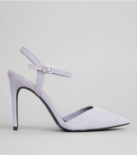 Lilac Ankle Strap Pointed Court Shoes | New Look