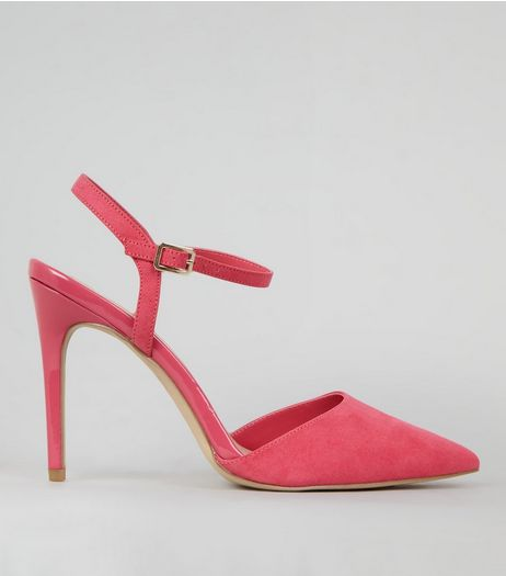 Pink Ankle Strap Pointed Court Shoes | New Look