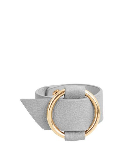 Grey Metal Circle Cuff  | New Look