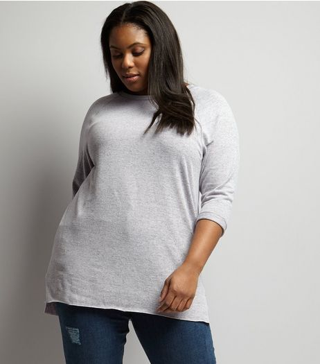 Curves Lilac 3/4 Sleeve Tunic | New Look