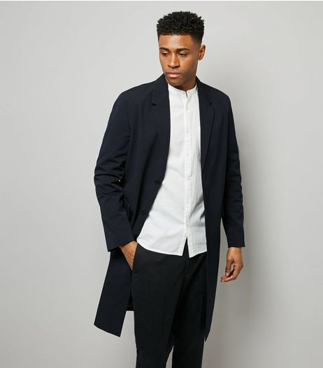 Navy Double Pocket Trench Coat | New Look
