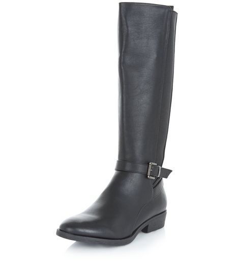 Black Elasticated Side Boots | New Look
