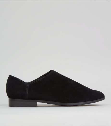 Black Suede High Vamp Shoes | New Look
