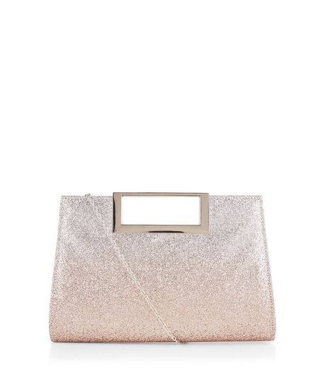 Gold Glitter Metal Handle Bag | New Look