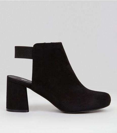 Teens Black Seudette Elasticated Back Boots  | New Look