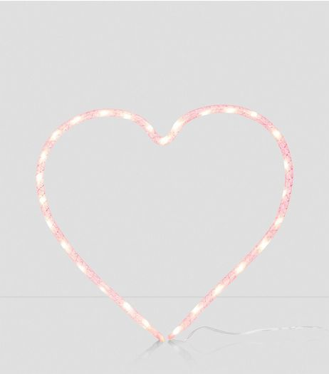 Pink Heart LED Light | New Look