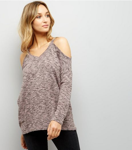 Pink Cold Shoulder Long Sleeve Top | New Look