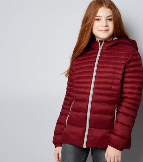 Teens Red Lightweight Puffer Jacket | New Look