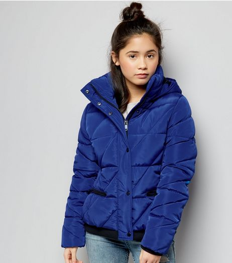 Teens Blue Puffer Jacket | New Look