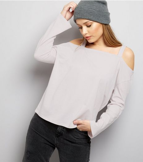Lilac Cold Shoulder Top | New Look