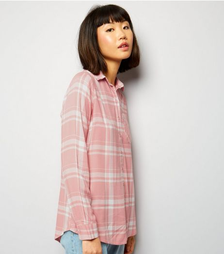 Innocence Pink Check Pocket Front Shirt | New Look