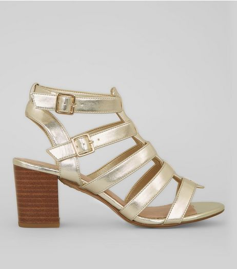 Gold Comfort Gladiator Heeled Sandals | New Look