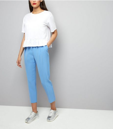 Pale Blue Pleat Front Trousers | New Look