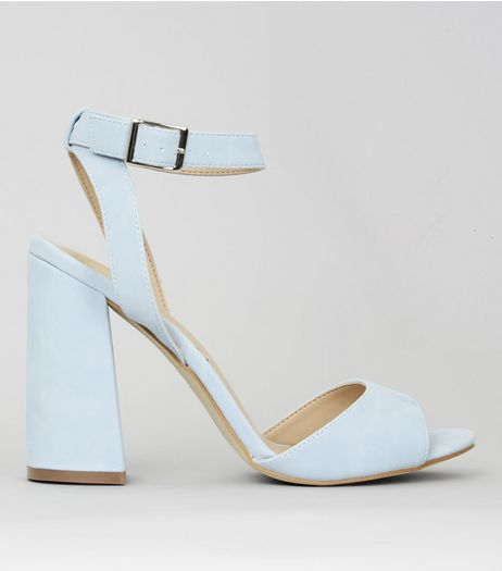 Pale Blue Block Heels | New Look