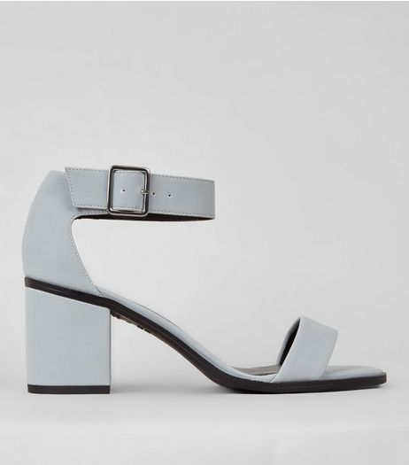Pale Blue Block Heel Sandals | New Look
