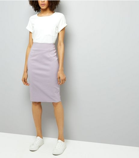 Lilac Split Side Midi Pencil Skirt | New Look