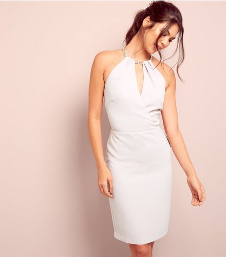Light Purple Wrap Front Bodycon Dress  | New Look
