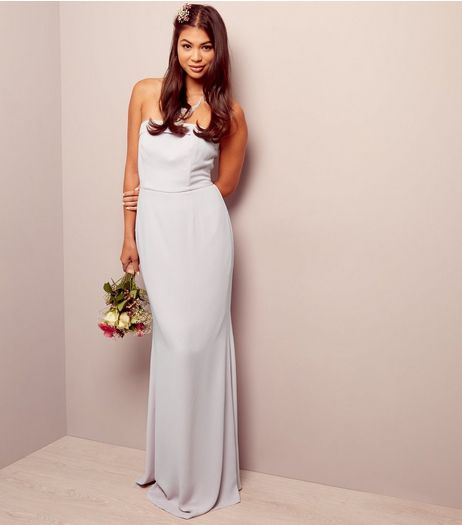 Lilac Bardot Maxi Bridesmaid Dress | New Look