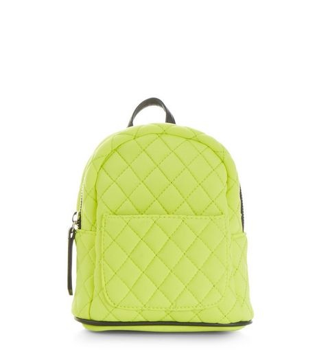 Yellow Quilted Mini Backpack | New Look