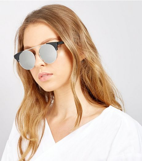 Black Mirror Lens Sunglasses | New Look