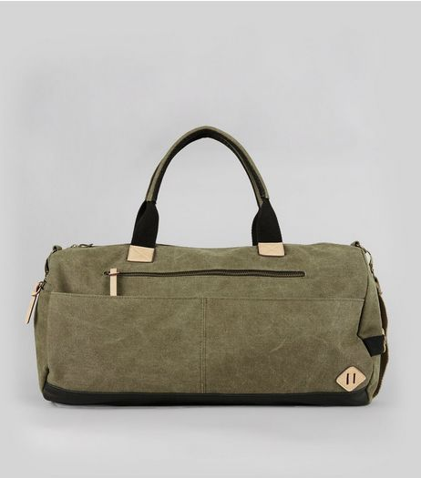 Khaki Contrast Holdall | New Look