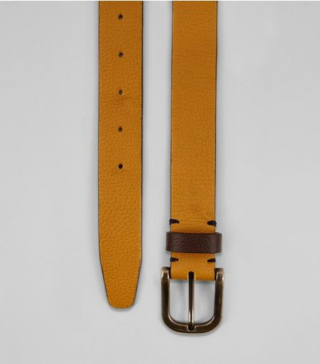 Yellow Leather Belt | New Look