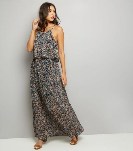 Blue Vanilla Navy Floral Print Maxi Dress | New Look