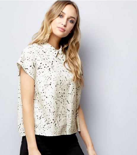 Noisy May White Abstract Print Shirt  | New Look