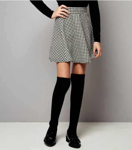 Teens Black Gingham Skirt | New Look