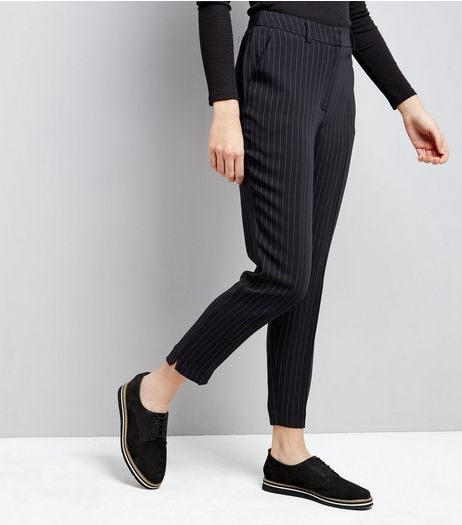 Blue Pinstripe Slim Leg Trousers | New Look