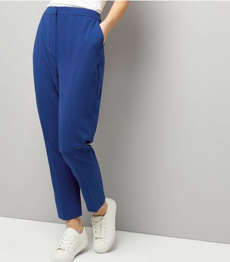 Blue Slim Leg Trousers  | New Look