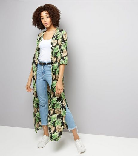 Noisy May Green Tropical Print Kimono  | New Look