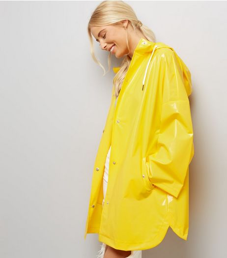 Yellow Oversized Hooded Anorak  | New Look